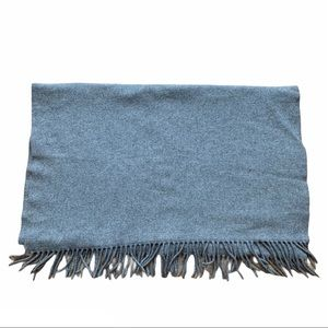 Acne Studios 100% Virgin Wool Scarf Fringe Gray